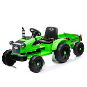12v Electric Kids Ride-on Farm Tractor Truck With Trailer + Remote Control Safe