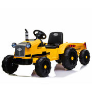 12v Electric Kids Ride On Tractor Toy Truck Mp3 With Trailer Remote Control