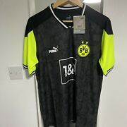Borussia Dortmund Limited Edition Neon Yellow And Black 3rd Kit Size Xl