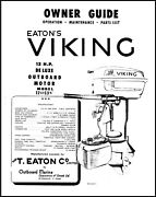 Viking Outboard Motor 12hp Deluxe Owners Operators Instruct Manual 1960s 12d13v
