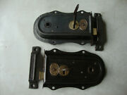 Antique Matched Pair Of Restored Reversible Rim Locks With Keeps And Keys