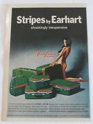 Vtg Print Magazine Ad Amelia Earhart Luggage For Men 70and039s Semi Nude Woman Vg
