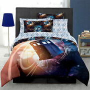 Bbcand039s Doctor Who Queen Size Complete 7 Piece Dr. Who Tardis Bed Set Comforter