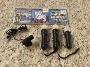 Sony Playstation 3 Ps3 Move Bundle Motion Controller, Navigation Camera And Games