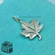And Co. 925 Silver Matte Canadian Maple Leaf Charm Pendant Pouch