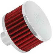 K And N Steel Base Crankcase Vent Filter 1in. Vent Chrome End Cap 62-1170