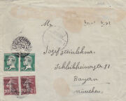 Syria 1924 Multi Franking Cover Show All Arabic Negative Hama Seals To Germany