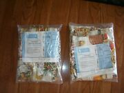 Nos In Package Vtg Pair Barkcloth Drapes Curtains Drapery Panels 48x30