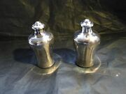 Miniature Chinese Sterling Silver Salt And Pepper Shaker 1850 Fully Marked Simple