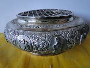 Posy Holder Sterling Silver East India C 1930 Military Chased Engraved