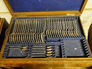 Canteen Of Cutlery, Boxed Silver Plated, Grecian Pattern 1850 English , Antique