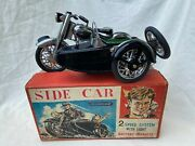 Marusan Motorcycle With Side Car Tin Toy Boxed Very Rare