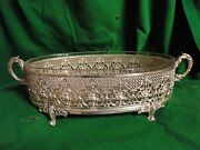 Silver Plated Jardinier Victorian French 1860 Great Quality Pierced/ Chased