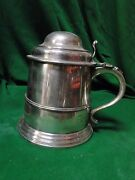 Extra Large Beer Mug/ Stien/ Tankard Silver Plated Antique 1890 Large Piece