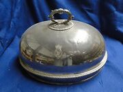 Meat Dish Cover Old Sheffield Silver Plated Marked 1850 English Gadroon Crested