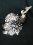 Novelty Fish Spoon Warmer Silver Plated Victorian Unmarked Rare 1860 Perfect