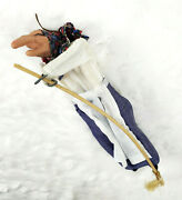 Vintage 10 Kitchen Witch On Broom Scandinavian Good Luck Tradition B