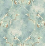 Delicately Framed Wallpaper In Antique Blue Dv51302 From Wallquest