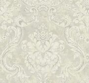 Antique Damask Wallpaper In Clouded Dv50508 From Wallquest
