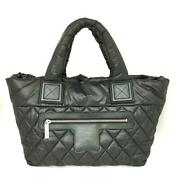Coco Cocoon Tote Pm Bag Women And039s Black System Nylon Rank Secondhan _29551