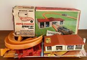 Vintage 1960andrsquos Hot Wheels Super Charger Sprint Set And Stunt Action Set By Mattel