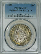 1828 Pcgs Ms63 Bust Half Fine Satiny Luster And Original Surfaces Very Few Marks