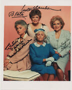 Signed The Golden Girls Picture Betty White Bea Arthur Rue Mcclanahan Autograph