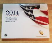 2014 Annual Dollar Set Us Mint With W Silver Eagle And Five Dollar Coins