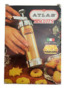 Marcato Atlas Biscuits Cookie Press 4 Tips And 20 Discs Vintage Made In Italy