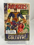 Avengers 28 1966 1st Appearance Of Collector Henry Pym As Goliath