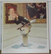 Norman Rockwell Signed The Critic From Painting Saturday Evening Post Collotype