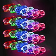 Light Up Glasses,glow In The Dark Party Supplies 20 Pack 6 Color Led Glow