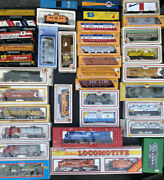80 Pc Model Train Ho Scale Engine Cars, Cabooses, Model Towns And More Vintage Set