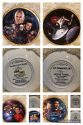Star Trek Collector Plates 5 In The Set From The Hamilton Collection