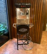 Great Northern 8 Oz. Ounce Foundation Vintage Style Popcorn Machine And Cart