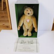 """Vintage Steiff Bear """"dicky"""" 12"""" Tall With Box And Certificate"""