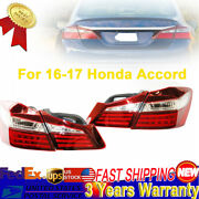 For 16-17 Honda Accord Led Strip Tail Lights Rear Light Auto Accessories Pair X4