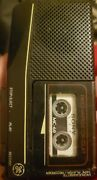 Ge Microcassette Handheld Voice Recorder 3-5370b Black + Sony Microcassettes X6