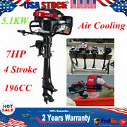 Hangkai 4 Stroke 7hp Outboard Motor 196cc Fishing Boat Engine Air Cooling System