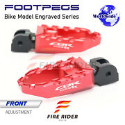 Buzz Front Touring Wide Foot Pegs For Honda Cbr 600 Rr Abs 03-2017 14 15 16