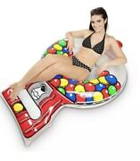 Bigmouth Inc - Giant 5 Ft Ice Gumball Machine Inflatable Pool Float Raft Tube