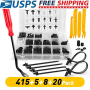 415pcs Car Body Plastic Clips Buckle Push Pin Rivet Fastener With Removal Plier