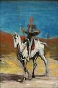 Honorandeacute Daumier - Don Quixote And Sancho Panza Poster Print 47x32in 119366