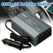 400w 12v To Ac 110v Outlets Power Inverter With 2 Usb Port Durable Car Adapter