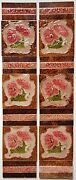 Stunning Antique Victorian Pink Poppy Fireplace Tile Set By J H Barrett And Co