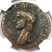 Ancient Roman Claudius Ae As Coin 41-54 Ad - Certified Ngc Choice Fine