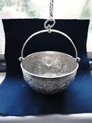 Sterling Silver Chased And Engraved Hanging Dish Great Design And Quality India 1890