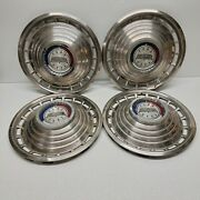 14 Ford Galaxy Classic Hubcaps 1963 Set Of 4 Vintage Wheel Covers