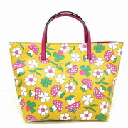 Gg Tote Bag Children's Collection Yellow Pink Mu _36816