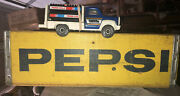 Vintage Wooden Pepsi Crate And Tonka Pepsi 1978 Pepsi Delivery Truck 🚚 Wood 📦